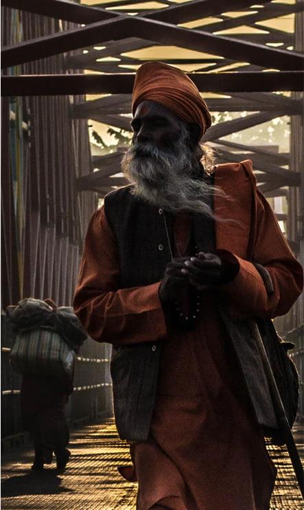 a priest in Nepal