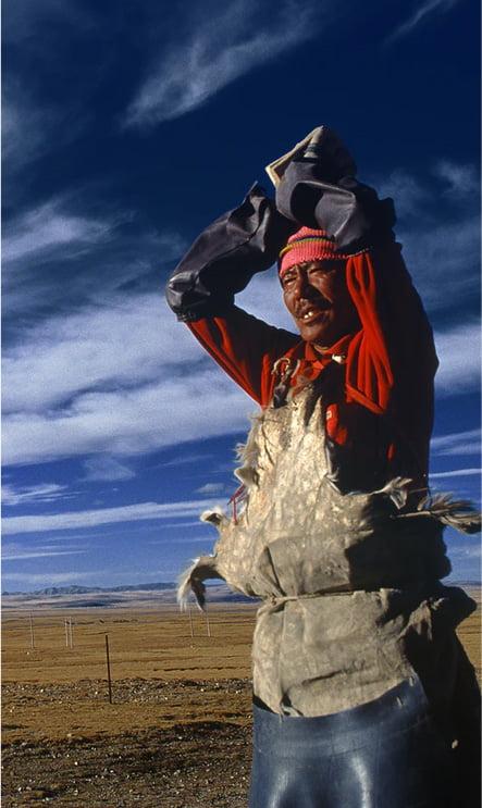 a Tibetan man