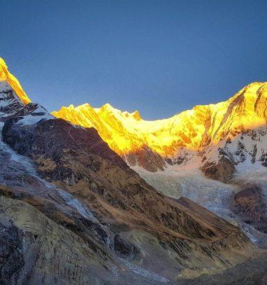 View of Annapurna-I captured during Annapurna Base Camp Trek