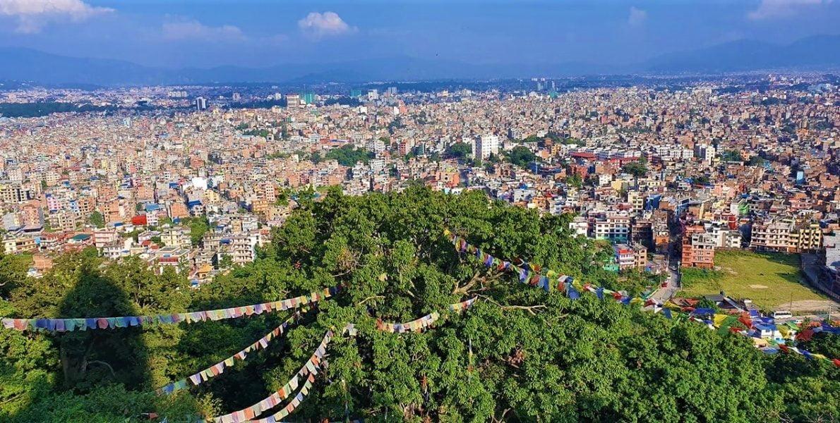 Kathmandu City from Soyambhunath Stupa