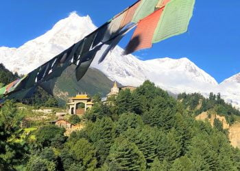 Manaslu Circuit Trek- Mountain Views captured during the Manaslu Trek