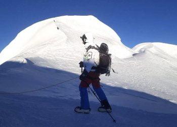 Heading towards the summit of Mera Peak (Mera Peak Climbing)