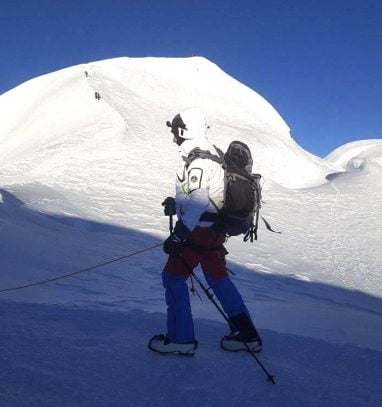 Heading towards the summit of Mera Peak (Mera Peak Climbing)