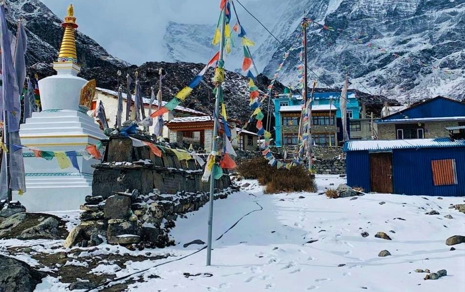 Langtang Valley during winter