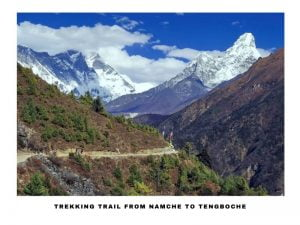 amazing view captured on the way to tengboche from namche during ebc trek