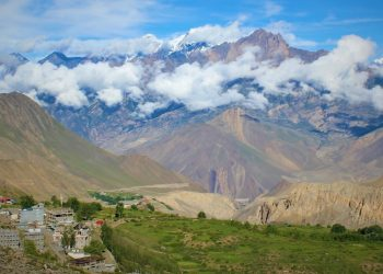 a scenic view captured from muktinath during mustang tiji festival trek
