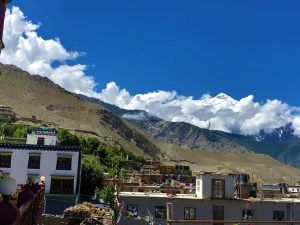 Mountain Views captured from a hotel in Upper Mustang