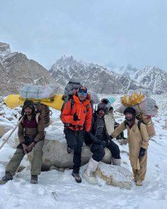 Nims dai on winter climb of K2