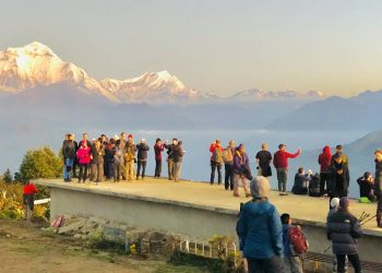 view from poonhill during Annapurna Panorama Trek