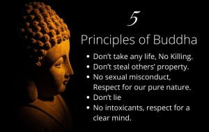 The five principles of Gautam Buddha