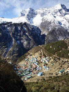 Namche Bazaar in Everest Region Nepal