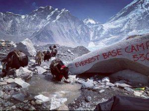 Trekking in Everest during November
