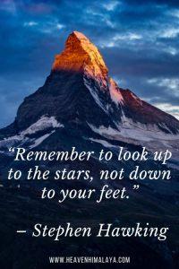 himalata trekking quote by Stephen hawking